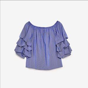 Zara off shoulder top,used once